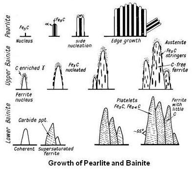 Growth of Pearlite and Bainite